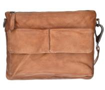 Waxed Leather Journey Umhängetasche Leder 28 cm braun
