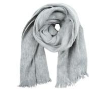 Schal mit Fransenrand graumeliert