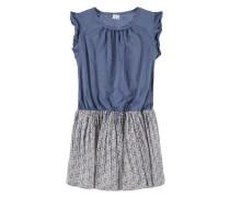 Kleid mit Flügelarm blau / mischfarben