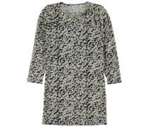 Kleid mit langen Ärmeln 'nitlamille' schwarz / weiß