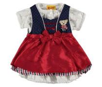 3tlg. Kleid ärmellos Bluse und Rock mischfarben