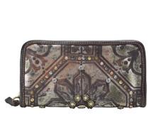 Laminatii Geldbörse Leder 21 cm silber