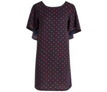 Pünktchen-Kleid blau