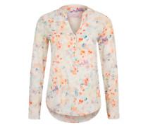 Bluse mit Batikprint creme / aqua / mischfarben / orange