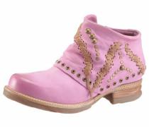 Stiefelette braun / pink