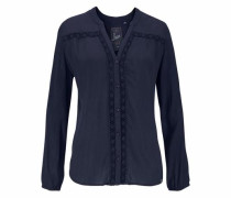 Crinklebluse »Victoria Shirt« navy