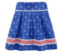Trachtenrock Kinder mit Blümchendruck blau / rot / weiß