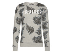 Sweatshirt mit Palmen-Print 'Scratch' grau