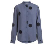 Gepunktetes Hemd blau / schwarz
