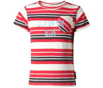 T-shirt 'Echelon' rot / schwarz / weiß