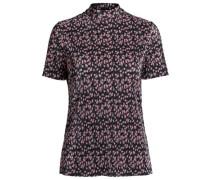 Blumiges T-Shirt orchidee / schwarz