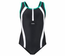 Badeanzug mint / schwarz / weiß