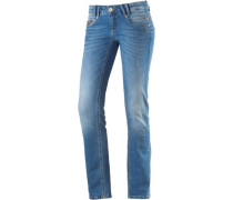 'Alena' Skinny Fit Jeans Damen blue denim