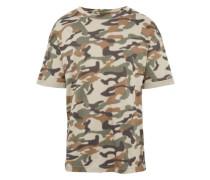 T-Shirt 'RN Boxy Camou' oliv / mischfarben