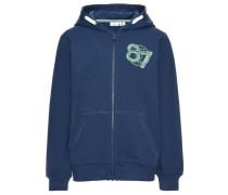 Sweatshirt mit Reißverschluss nitvoltano blau