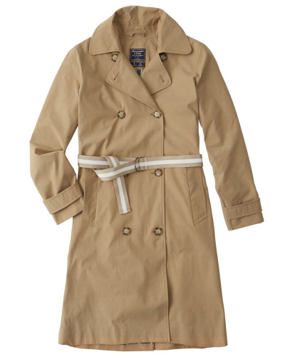 Mantel 'hooded Trench' beige