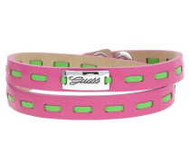 Wickelarmband Pink/Grün Ubb21305 hellgrün / dunkelpink / silber