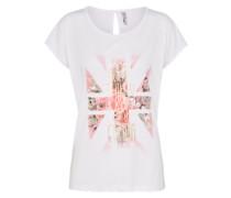 Shirt 'Cissi R' rosa / weiß