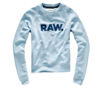 Sweater 'Xula Art Straight' hellblau / schwarz