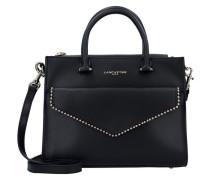 Sac Cabas Main Handtasche Leder 26 cm schwarz