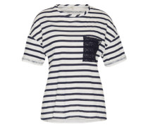 T-Shirt 'argor' blau / weiß