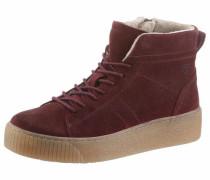 Sneaker aus Veloursleder bordeaux