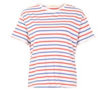 Gestreiftes T-Shirt rot / blau