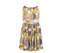 Kleid mit Allover-Print weiß