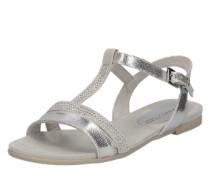 Sandalen mit Nietendekor silber