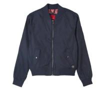 Blouson-Jacke in Nylon-Optik blau