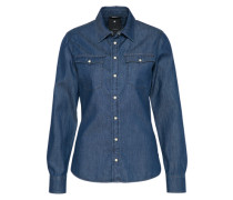 Jeansbluse '3301' blue denim