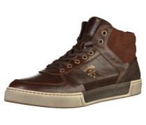 Sneaker creme / dunkelbraun / grau
