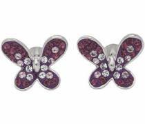 Paar Ohrstecker 'Schmetterling' lila / silber