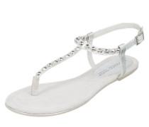 Sandale mit Nieten silber