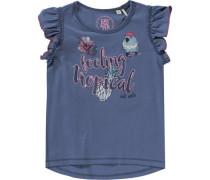 T-Shirt für Mädchen UV-Schutz 30+ dunkelblau