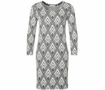 Jerseykleid grau / weiß