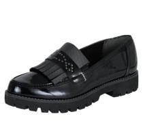 Slipper mit Tasseln schwarz