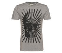 Shirt 'Big skull print tee' graumeliert