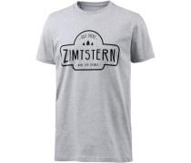 Ruztic Printshirt Herren grau