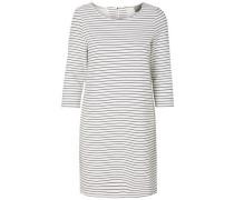 Gestreiftes Kleid 'Vmebru' schwarz / weiß