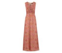 Maxikleid mit Paisley-Muster beige / mischfarben / rosa