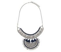 Modische Halskette navy / silber