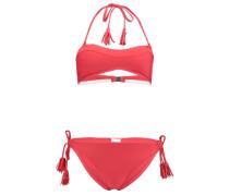 Bikini 'solid Bandeau' rot