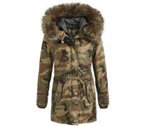 Mantel 'dorota With Inner Jacket' brokat / khaki