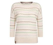 Female Knit 'Majas Lieblingspulli IV' beige / hellgrün / helllila