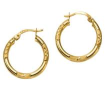 """Paar Creolen """"Basic"""" diamantiert gold"""