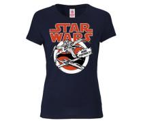 "T-Shirt ""X-Wings"" nachtblau / rot / weiß"