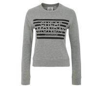 Sweatshirt mit Streifenlogo grau
