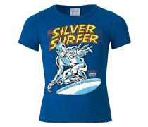 T-Shirt 'Silver Surfer Logo - Marvel' blau