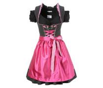 Dirndl pink / schwarz / weiß